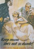 KEEP MUM CARELESS TALK COST LIVES POSTCARD